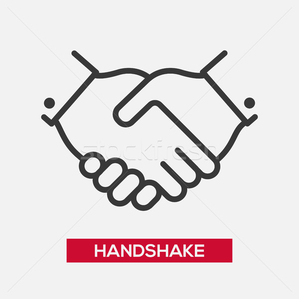 Business handshake single icon Stock photo © Decorwithme