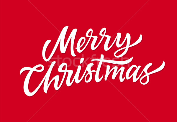 Merry Christmas - vector hand drawn brush pen lettering Stock photo © Decorwithme