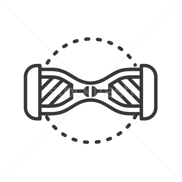 Gyroscooter - line design single isolated icon Stock photo © Decorwithme