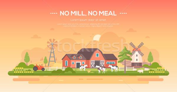 No mill pasto moderno design stile Foto d'archivio © Decorwithme