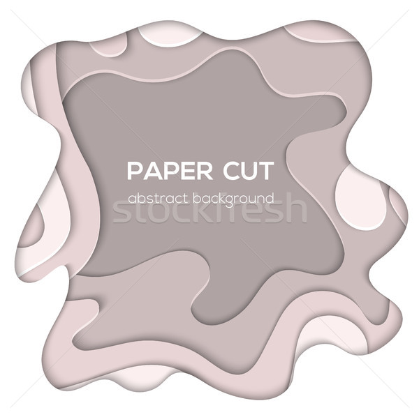 Grey abstract layout - vector paper cut illustration Stock photo © Decorwithme