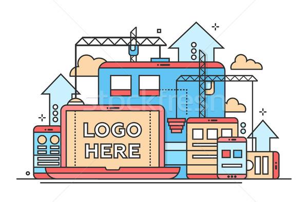 Programmazione strumenti design illustrazione copia spazio logo Foto d'archivio © Decorwithme
