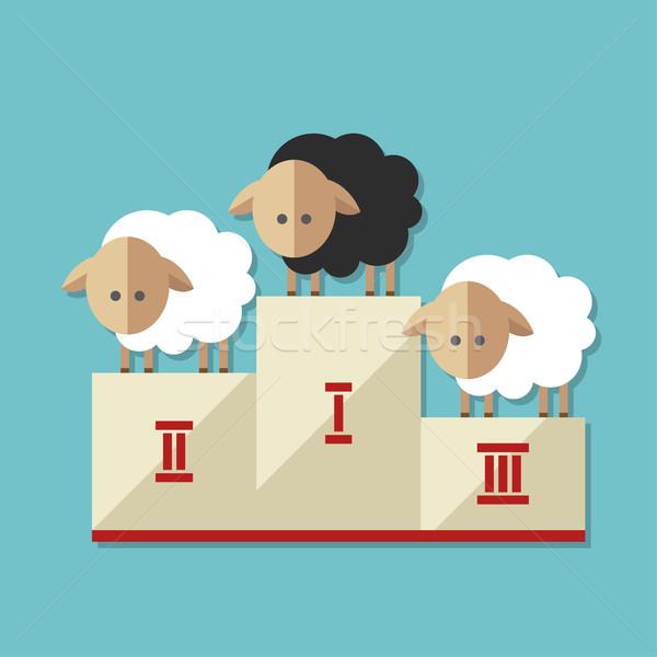 Modernes design illustration moutons résumé fond Photo stock © Decorwithme