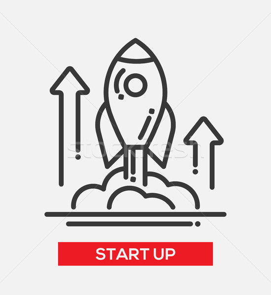 Business start up single icon Stock photo © Decorwithme