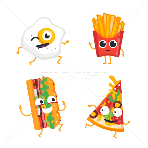 Fast food vettore set mascotte illustrazioni Foto d'archivio © Decorwithme