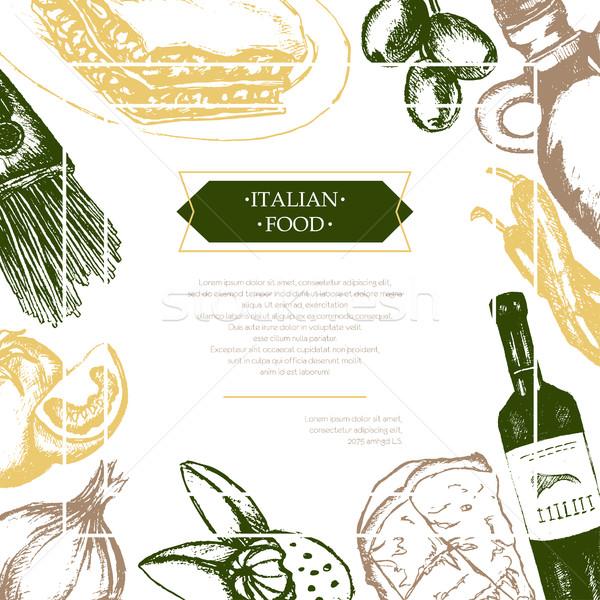 Cucina italiana colore flyer tre Foto d'archivio © Decorwithme
