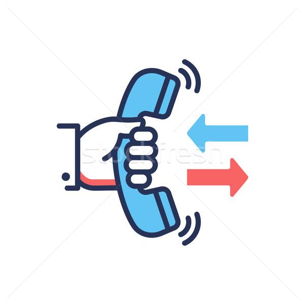 Call Back - modern vector line design single icon. Stock photo © Decorwithme