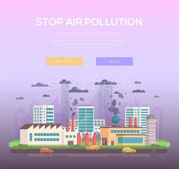 Stop air pollution - modern flat design style vector illustration Stock photo © Decorwithme