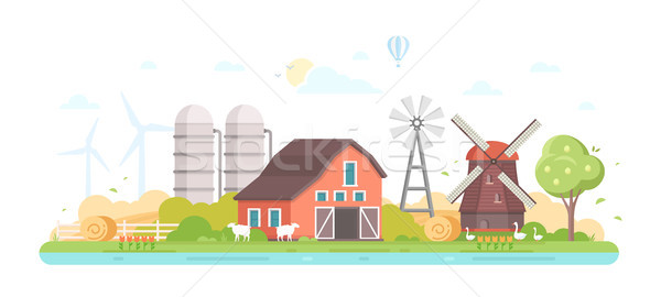 Agriculture - modern flat design style vector illustration Stock photo © Decorwithme