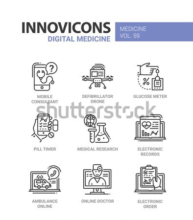 Law and Justice - flat design icons set Stock photo © Decorwithme