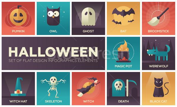 Хэллоуин вектора современных дизайна набор Сток-фото © Decorwithme