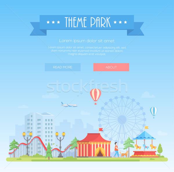 Theme park - modern flat design style vector illustration Stock photo © Decorwithme