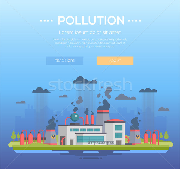 Pollution - modern flat design style vector illustration Stock photo © Decorwithme