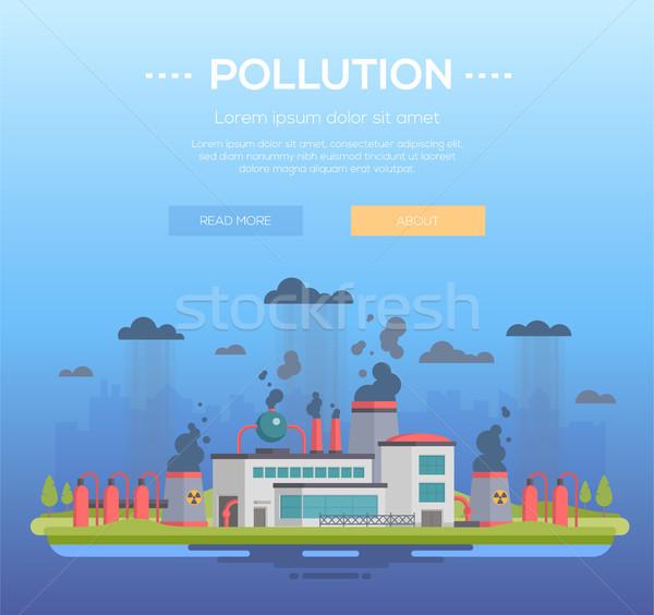 Poluição moderno projeto estilo azul lugar Foto stock © Decorwithme