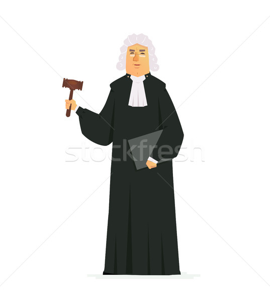 Judge - modern vector cartoon people characters illustration Stock photo © Decorwithme