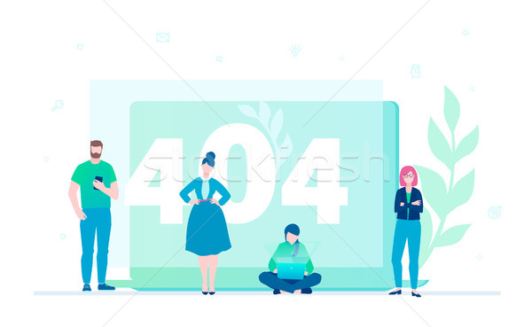 Erreur 404 page design style coloré Photo stock © Decorwithme