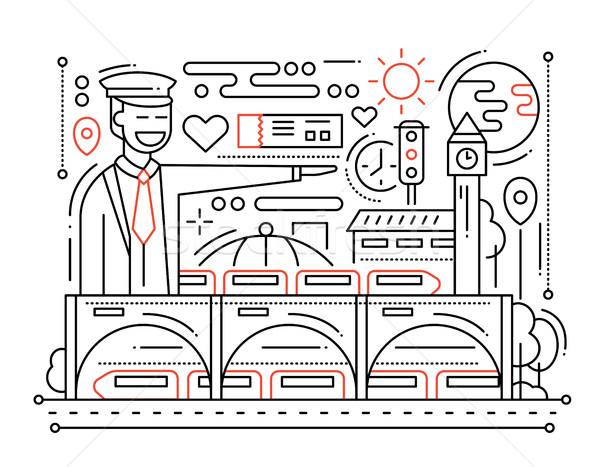 鉄道駅 行 デザイン ベクトル 現代 単純な ストックフォト © Decorwithme