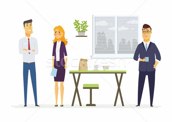 Strained relations in the office - modern cartoon people characters illustration Stock photo © Decorwithme
