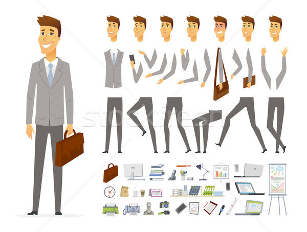 Businessman - vector cartoon people character constructor Stock photo © Decorwithme