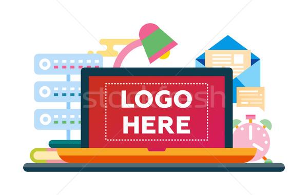 çalışmak yer dizayn örnek bo logo Stok fotoğraf © Decorwithme