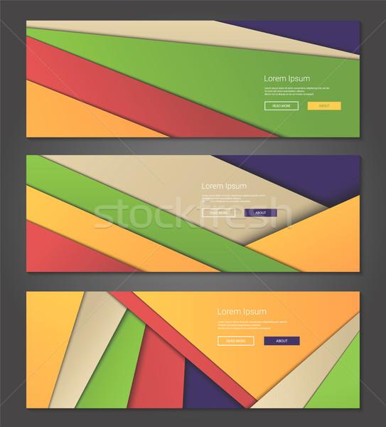 ストックフォト: 珍しい · 現代 · 素材 · デザイン · 背景 · バナー