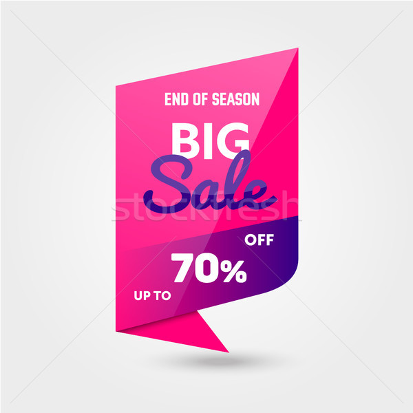 Mega Sale - modern vector illustration of discount promo Stock photo © Decorwithme