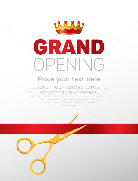 Grand opening template - modern vector illustration Stock photo © Decorwithme