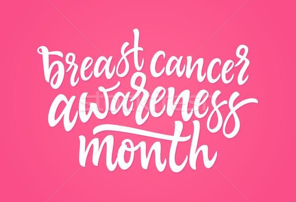 Borstkanker bewustzijn maand vector borstel Stockfoto © Decorwithme