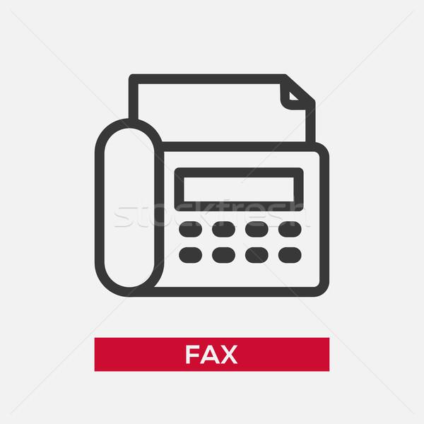 Téléphone fax icône isolé modernes vecteur Photo stock © Decorwithme