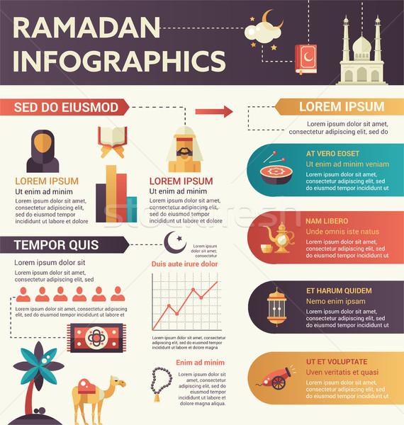 Ramadan infografica design illustrazione copia spazio vettore Foto d'archivio © Decorwithme