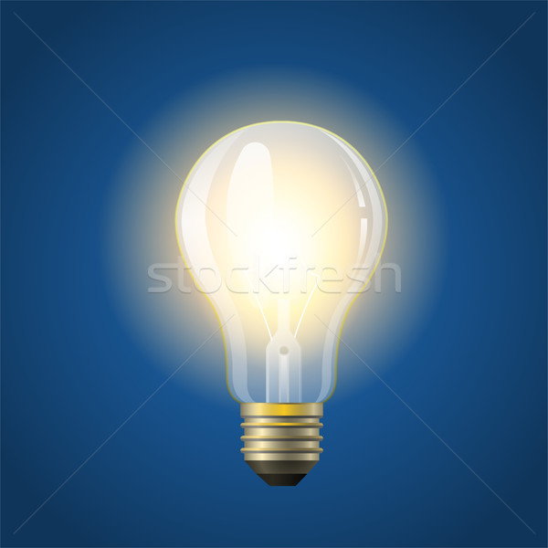 Glowing incandescent bulb - modern vector realistic isolated illustration Stock photo © Decorwithme
