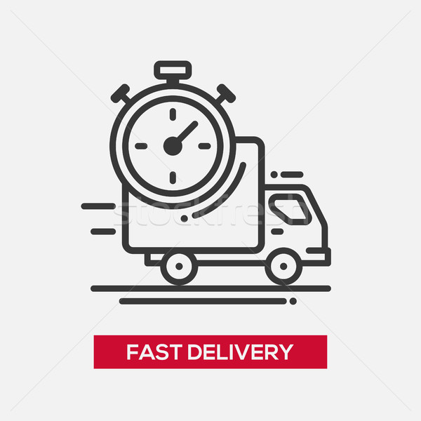 Fast delivery service single icon Stock photo © Decorwithme