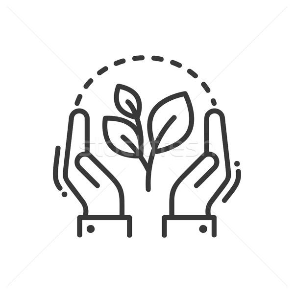 Bitki hayat modern vektör hat ikon Stok fotoğraf © Decorwithme