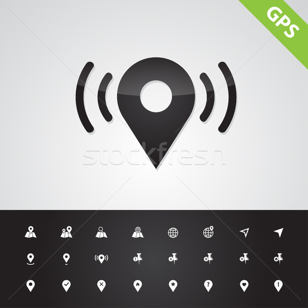 Set of isolated vector navigation icons Stock photo © Decorwithme