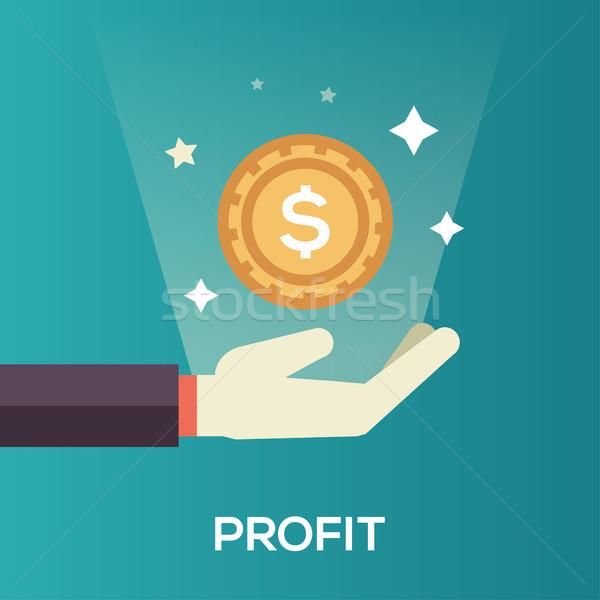 Profit - flat design single icon Stock photo © Decorwithme