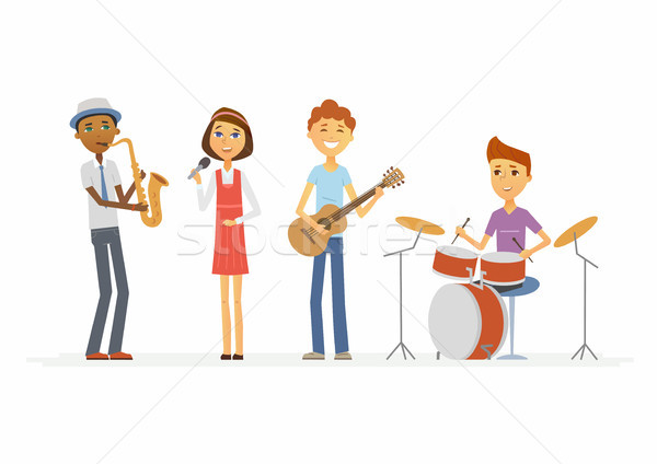 Escolas música banda isolado Foto stock © Decorwithme