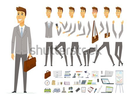 Cute man - vector cartoon people character constructor Stock photo © Decorwithme