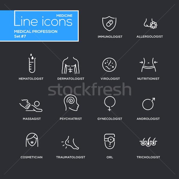 Medische beroep eenvoudige dun lijn ontwerp Stockfoto © Decorwithme