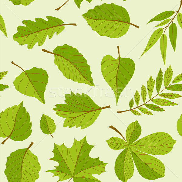 Stock photo: Leaves pattern - seamless modern material design background
