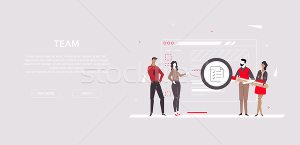 Team - modern flat design style colorful banner Stock photo © Decorwithme
