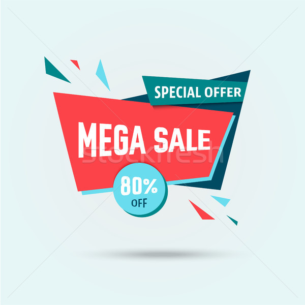 Big sale 80 off template - modern vector illustration Stock photo © Decorwithme
