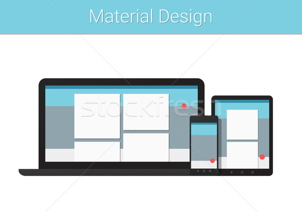 Flat modern responsive material design on various electronic dev Stock photo © Decorwithme