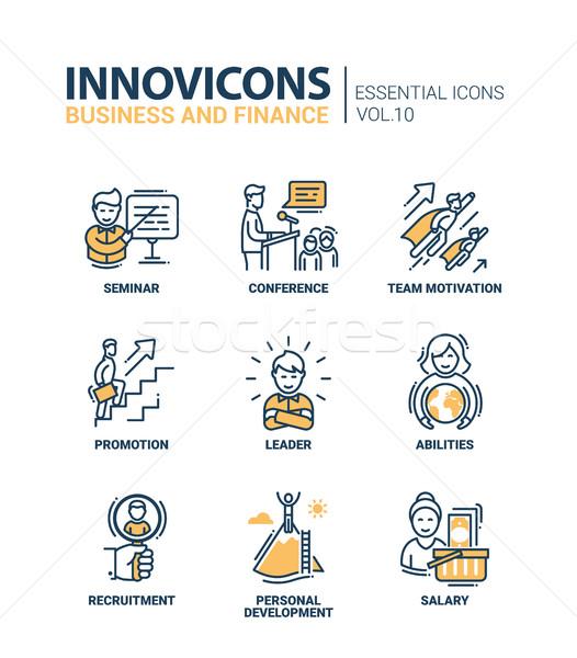 Stockfoto: Business · moderne · vector · financieren · iconen