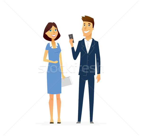 Business People - illustration modern flat design composition. Stock photo © Decorwithme