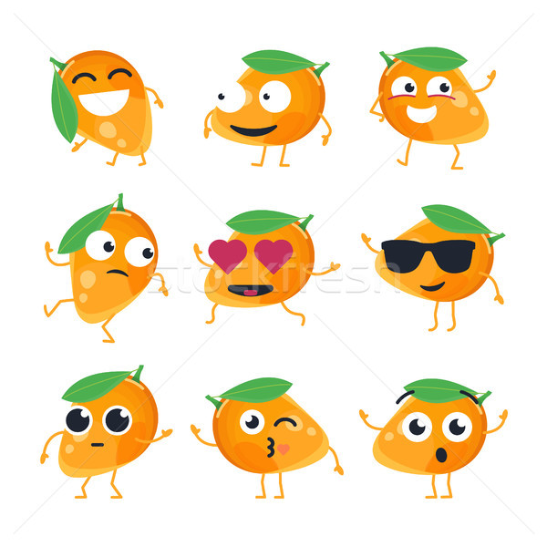 Grappig mango vector geïsoleerd cartoon Stockfoto © Decorwithme