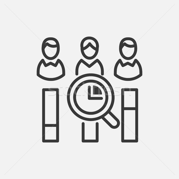 Vote counting - line design single isolated icon Stock photo © Decorwithme