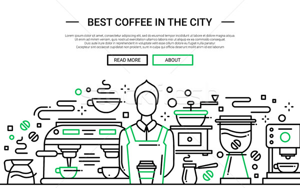 Best Coffee Shop In the City - website banner Stock photo © Decorwithme