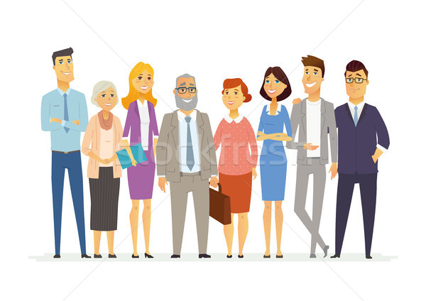 Office Team - modern vector business cartoon characters illustration Stock photo © Decorwithme