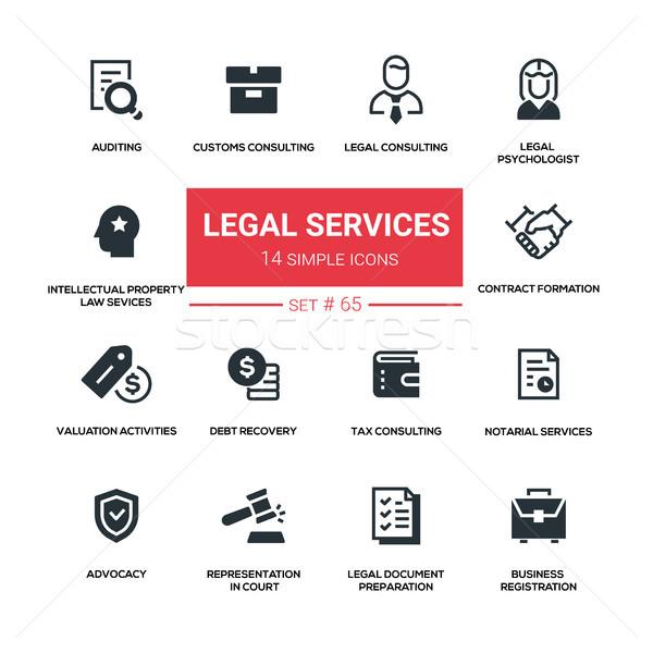 Yasal hizmetleri hat dizayn siluet Stok fotoğraf © Decorwithme