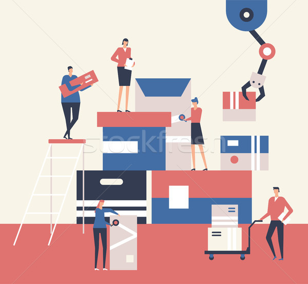 Logistics - flat design style illustration Stock photo © Decorwithme